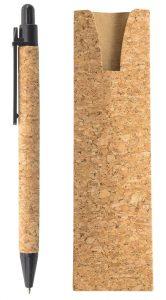 Długopis z korka w etui