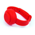 hand sanitizer band red front