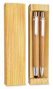 Bambusowy zestaw piśmienniczy